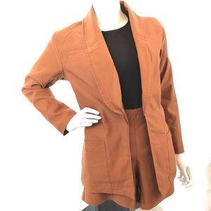 Jackets & Blazers - Open Front Blazer with Short
